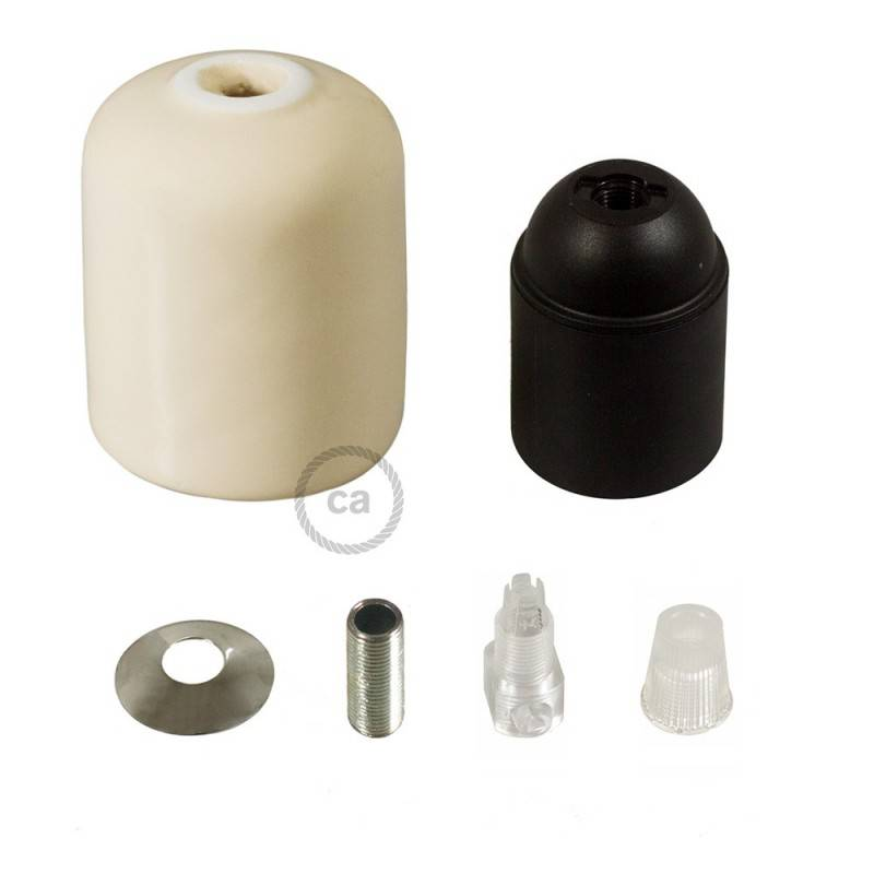 Ceramic E27 lamp holder kit