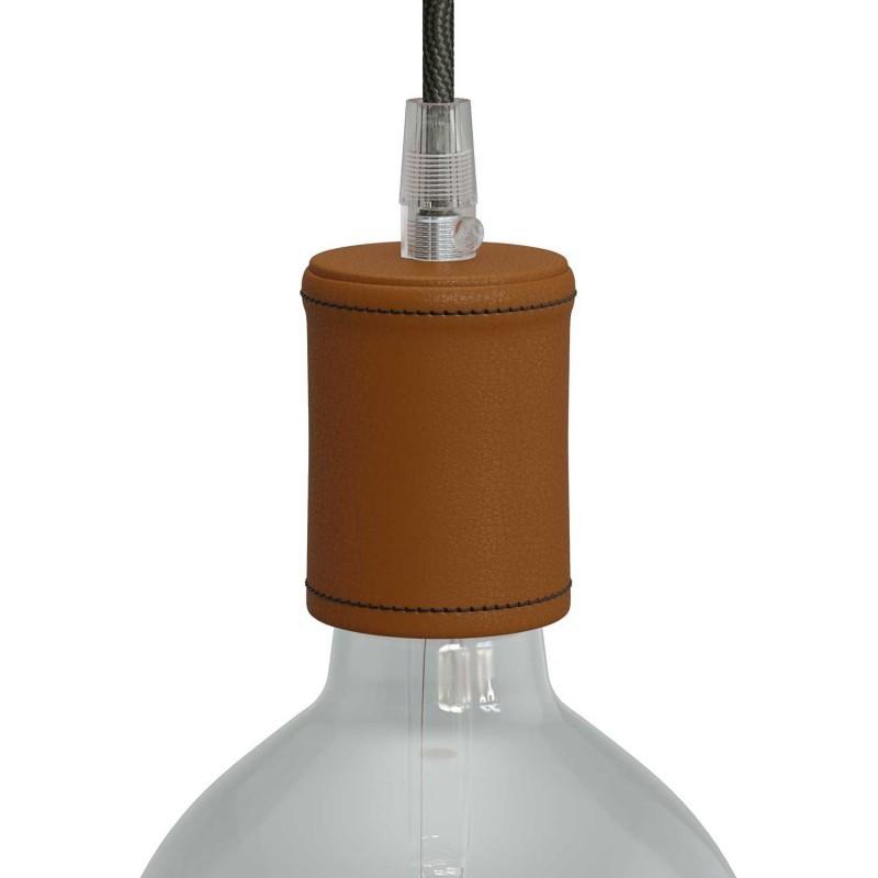 E27 Lamp Holder Kit In Wood Covered, Copper Pipe Lamp Holder