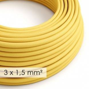 Large section electric cable 3x1,50 round - covered by rayon Yellow RM10