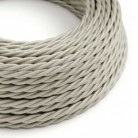 Twisted Electric Cable covered by Rayon solid color fabric TM00 Ivory