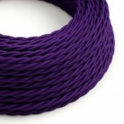 Twisted Electric Cable covered by Rayon solid color fabric TM14 Violet