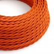 Twisted Electric Cable covered by Rayon solid color fabric TM15 Orange