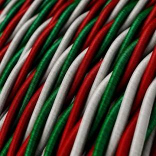 "Twisted Electric Cable covered by Rayon fabric ""Italy"""