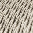 Twisted Electric Cable covered by Natural Linen TN01 Neutral