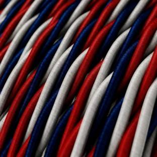Twisted Electric Cable covered by silk effect fabric USA