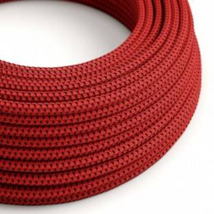 Round Electric Cable covered in 3D effect fabric RT94 Red Devil