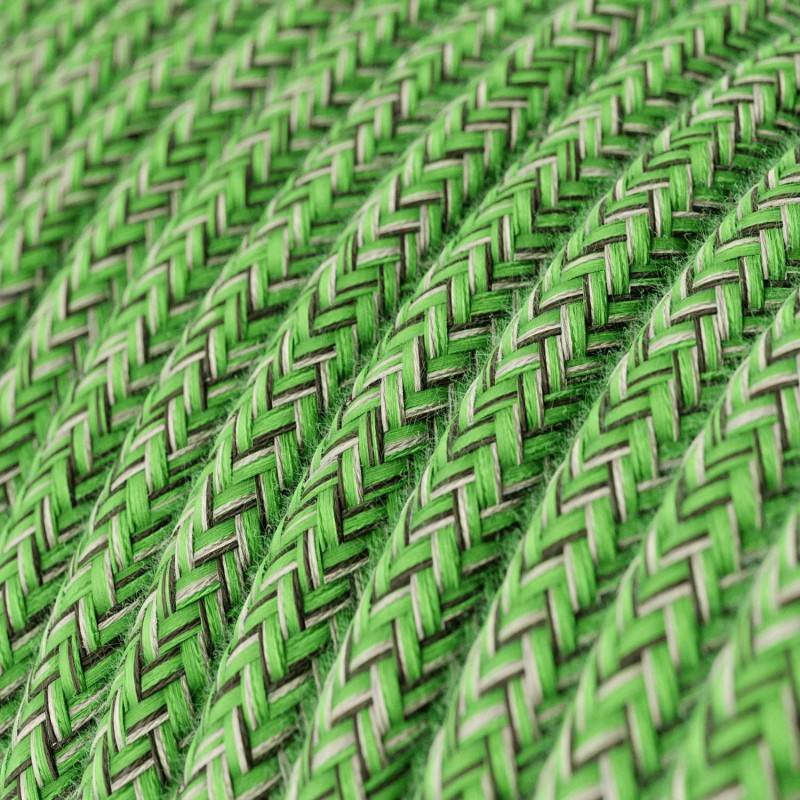 Round Electric Cable covered by Cotton fabric RX08 Bronte