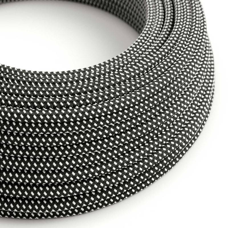 Round Electric Cable covered in 3D effect fabric RT41 Stars