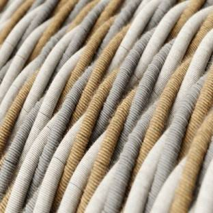 Electric Cable covered with twisted Jute, Cotton and Natural Linen - Country TN07