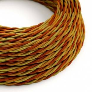 Electric Cable covered with twisted Rayon - Orange TG04