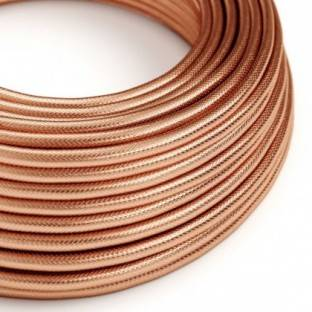 Round Electric cable covered in 100% Red Copper