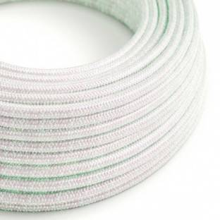 Round Glittering Electric Cable covered by Rayon fabric RL00 Unicorn
