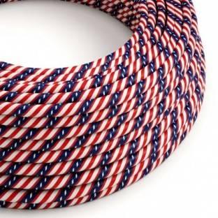Round Electric Vertigo HD Cable covered by Washington fabric ERM45