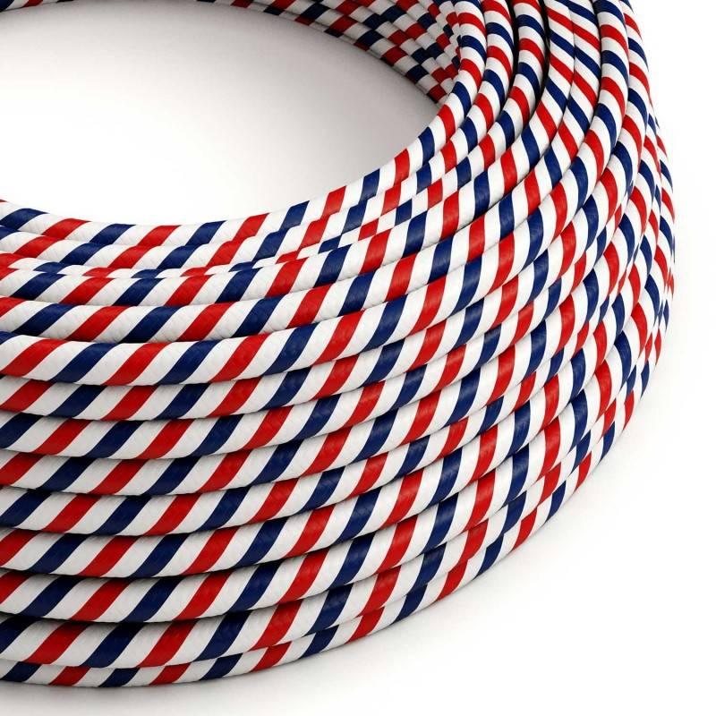 Round Electric Vertigo HD Cable covered by Paris fabric ERM57