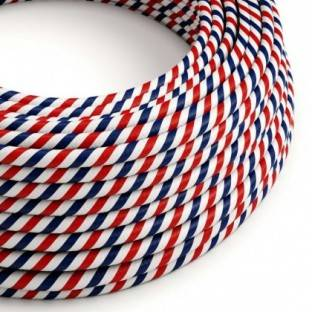 Round Electric Vertigo HD Cable covered by Paris fabric ERM57