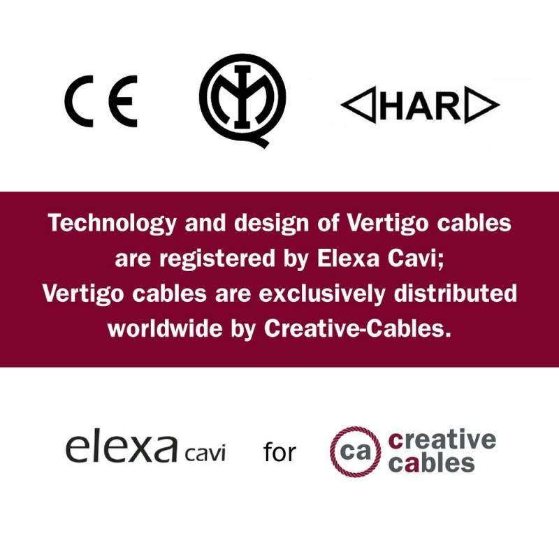 Round Electric Vertigo HD Cable covered by Rome fabric ERM58