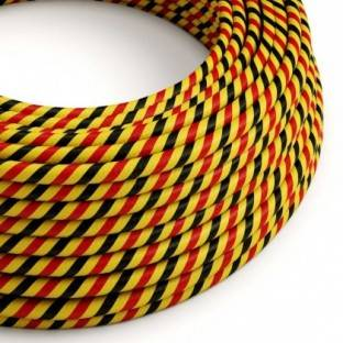 Round Electric Vertigo HD Cable covered by Bruxelles fabric ERM59