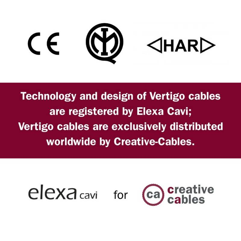 Round Electric Vertigo HD Cable covered by Optical Black and Copper fabric ERM66