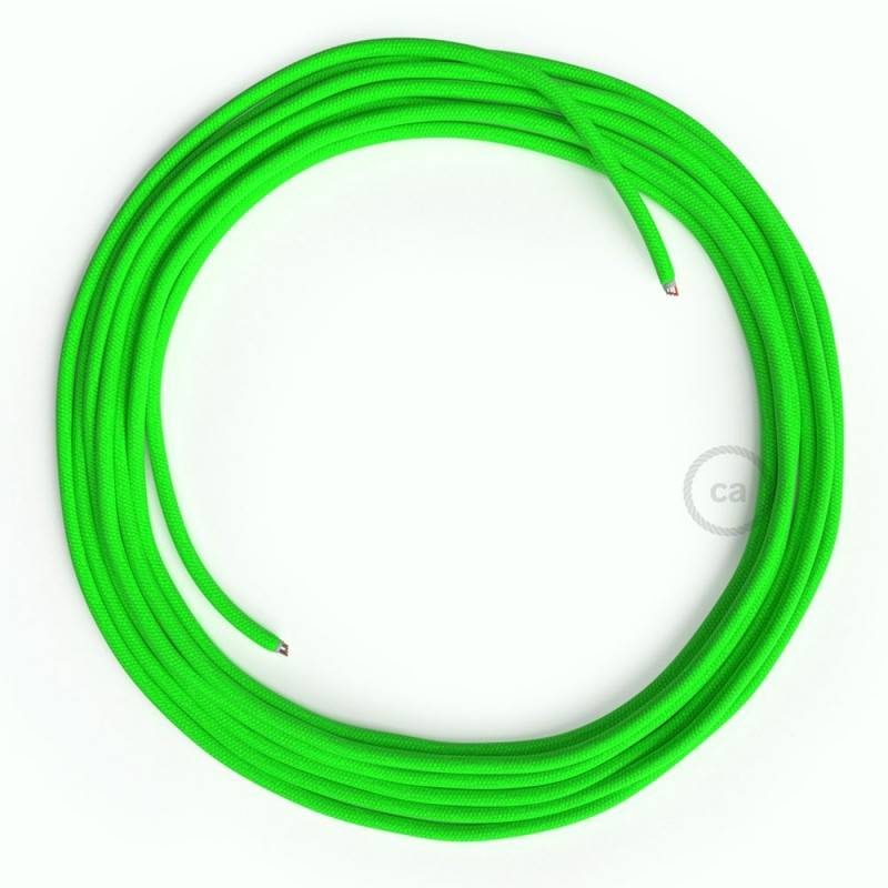 LAN Ethernet Cable Cat 5e without RJ45 plugs - Rayon Fabric RF06 Neon Green