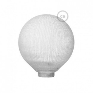 Bulb for modular decorative light bulb G125 White with Vertical lines