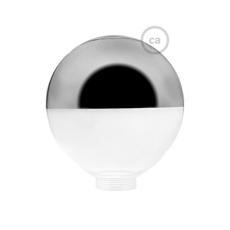 Bulb for modular decorative light bulb G125 Silver Semisphere