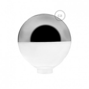 Bulb for modular decorative light bulb G125 Silver Semisphere
