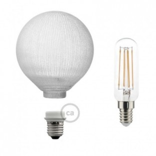 Modular LED Decorative Light bulb White with vertical lines 4,5W E27 Dimmable 2700K
