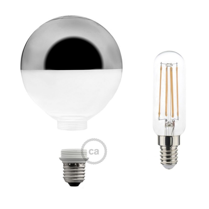 Modular LED Decorative Light bulb with Silver Semisphere 4,5W E27 Dimmable 2700K