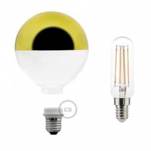 Modular LED Decorative Light bulb with Gold Semisphere 4,5W E27 Dimmable 2700K