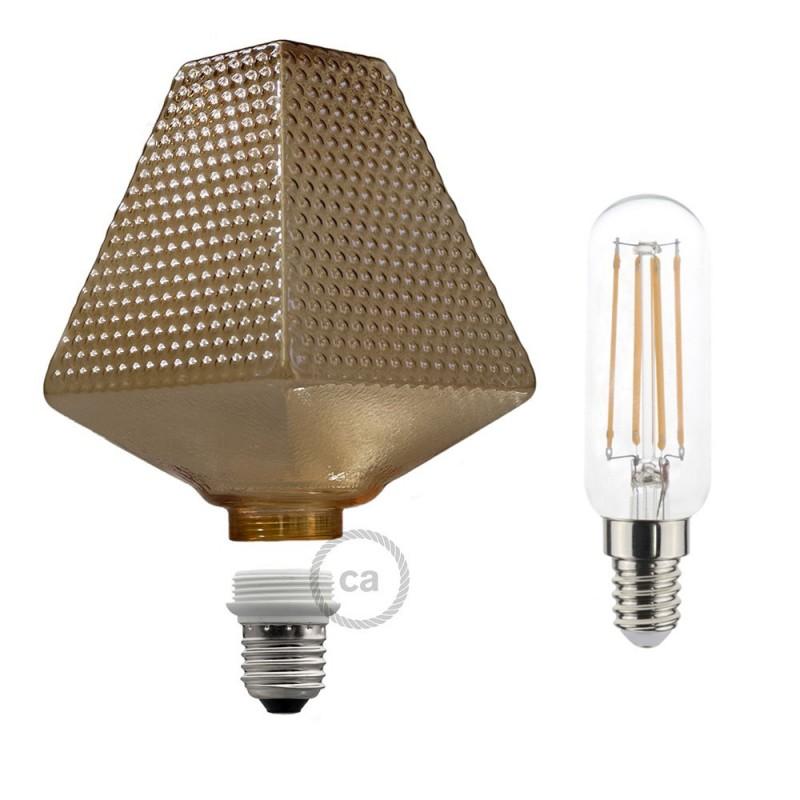 Modular LED Decorative Light Bulb G160 Smoked 4,5W E27 Dimmable 2700K