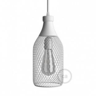 Bottle-shaped naked light bulb cage metal lampshade Jéroboam