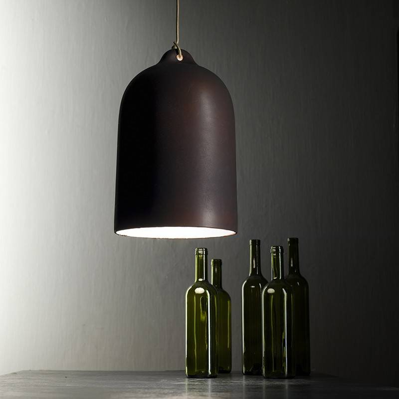 Bell XL ceramic lampshade for suspension - Made in Italy