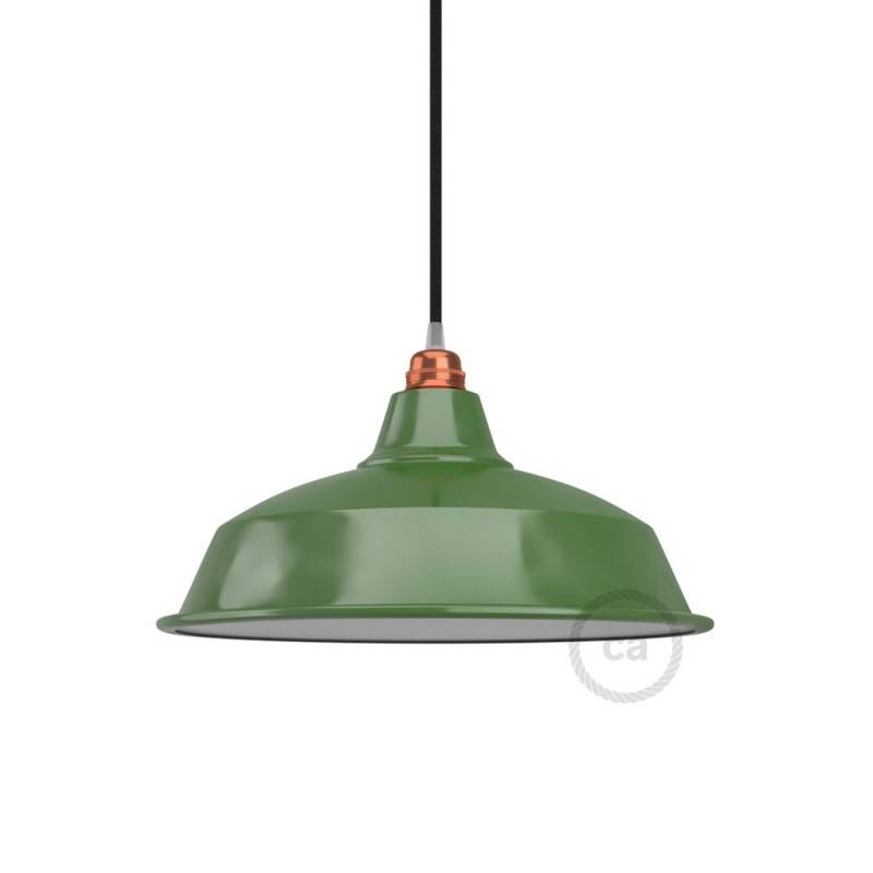 Bistrot lampshade in polished metal with E27 fitting, 38 cm diameter