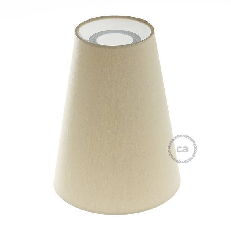 Truncated Cone fabric lampshade with E27 fitting, 16cm diameter h20cm - 100% Made in Italy