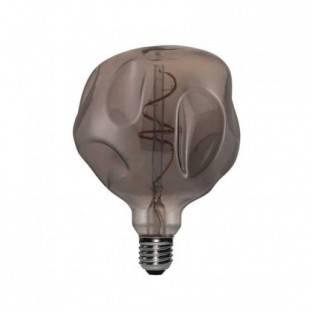 LED Bulb Globe G125 Bumped Smoky spiral filament 5W E27 Dimmerable 2000K