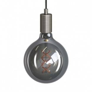 Pendant lamp with textile cable and metal details - Made in Italy - Bulb included