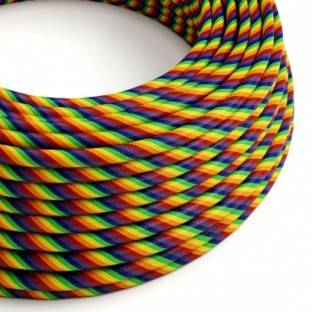 Round Electric Vertigo HD Cable covered by Rainbow fabric ERM68
