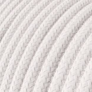Round Electric Cable covered by Cotton solid color fabric RC16 Pale Pink