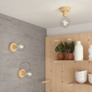 Fermaluce Wood S, the natural wood flush light for your wall or ceiling