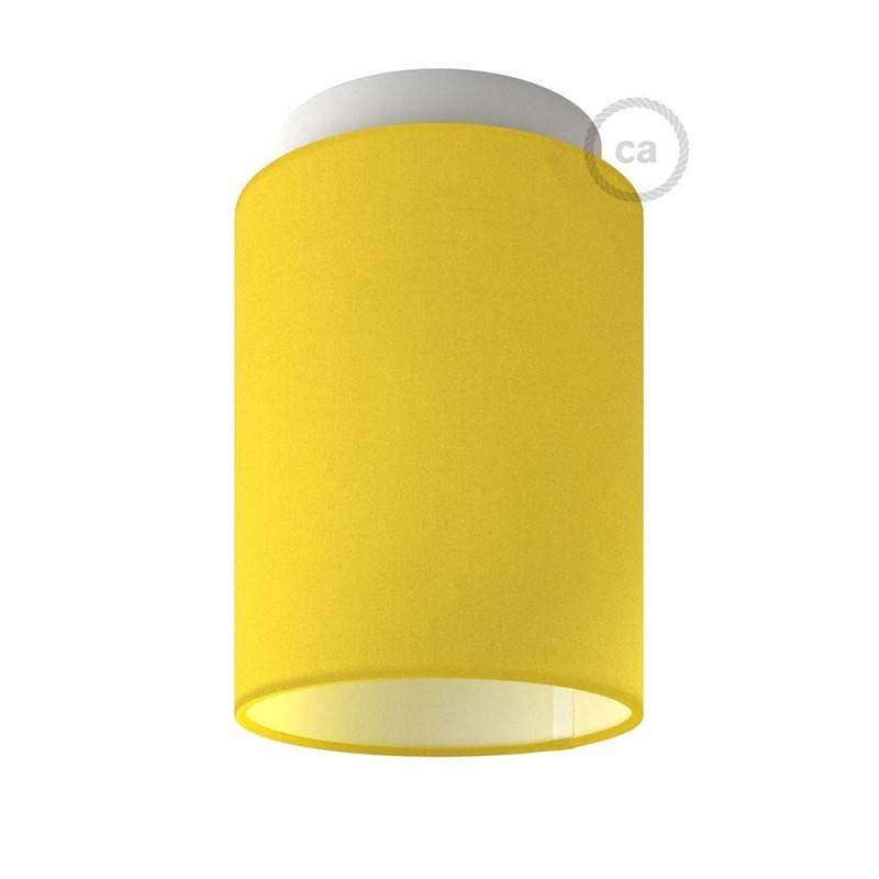 Fermaluce Color with Cylinder Lampshade, Ø 15cm h18cm, metal wall or ceiling flush light