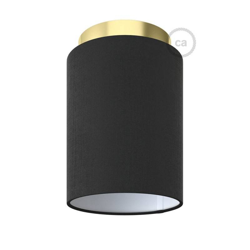 Fermaluce Metal with Cylinder Lampshade, Ø 15cm h18cm, metal finish wall or ceiling flush light