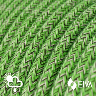 Outdoor round electric cable covered in Cotton Pixel Bronte SX08 -suitable for IP65 EIVA system