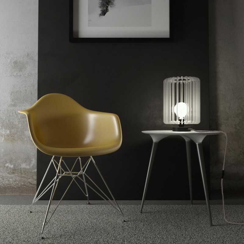 Posaluce Metal for lampshade, our metal table lamp complete with fabric cable, switch and 2-pin plug