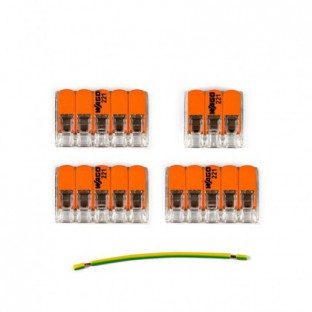 WAGO connector kit compatible with 3x cable for 4 hole ceiling rose