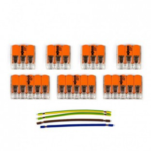WAGO connector kit compatible with 3x cable for 5 hole ceiling rose