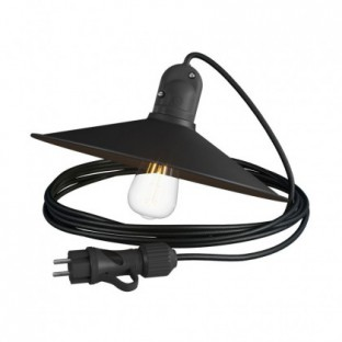 Eiva Snake with Swing shade, portable outdoor lamp, 5 m textile cable, IP65 waterproof lampholder and plug