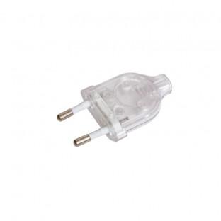 Transparent Plug 2.5A, 2-pole