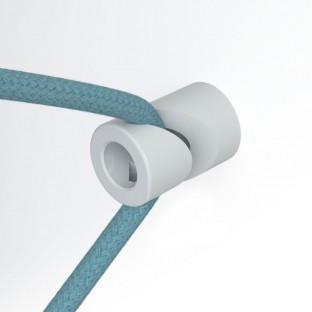 Decentraliser, ceiling or wall mount 'V' hook for fabric electrical cables