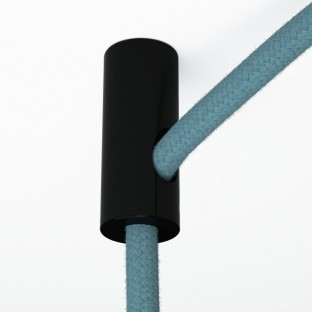 Decentraliser, ceiling hook for fabric electrical cables with stop