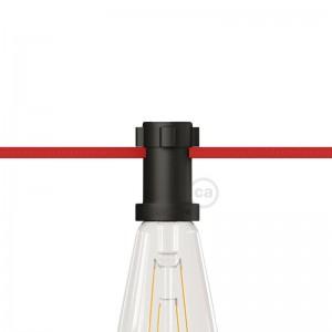 E27 black thermoplastic lamp holder for Lumet String Lights